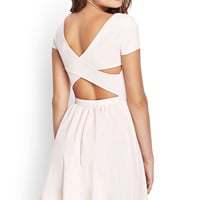 Cutout Fit & Flare Dress