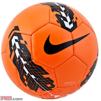 Nike Pitch Soccer Ball - Orange with Black - SoccerPro.com