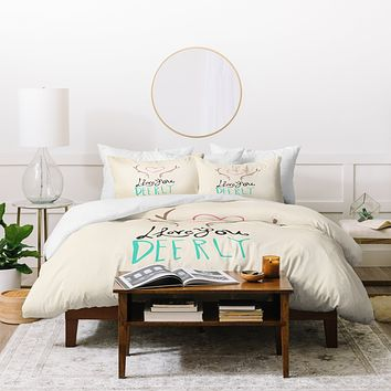 Allyson Johnson Love you deerly Duvet Cover