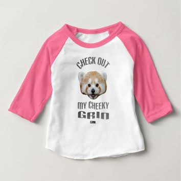 Cheeky Grin Baby Design by Kat Worth Baby T-Shirt