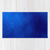 Misty Deep Blue Rug by kasseggs
