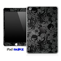 Black Paisley Laced Pattern Skin for the iPad Mini or Other iPad Versions