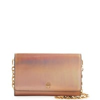 Tory Burch Robinson Metallic Wallet on Chain