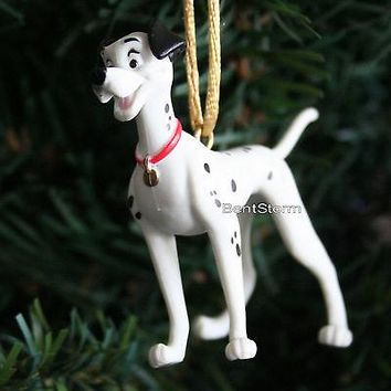 Licensed cool NEW Disney 101 DALMATIANS PONGO DAD DOG on all fours Christmas Ornament PVC