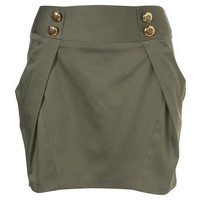 Gold Button Mini Skirt - Skirts & Pants - Topshop USA