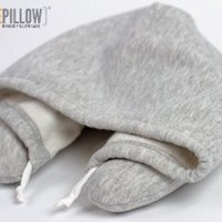 HoodiePillow Brand (Inflatable) Travel Hoodie Pillow - Gray