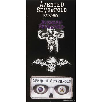 Avenged Sevenfold Men's AVS Patch Set A7X Embroidered Patch Multi