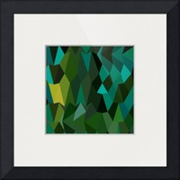 """Brunswick Green Abstract Low Polygon Background"" by Aloysius Patrimonio"