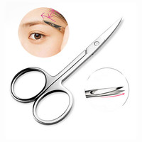 1Pcs Professional Eyebrow Eyelash Scissors Cuticle Manicure Pedicure Nails Curved Scissor Nose Scissor Functional Make Up Tools