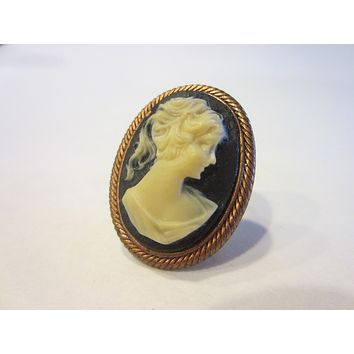 Cameo Onyx Copper Brooch A Fashion Statement
