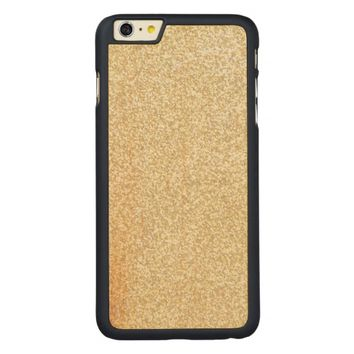 Cool Light Gold Glitter Carved® Maple iPhone 6 Plus Case
