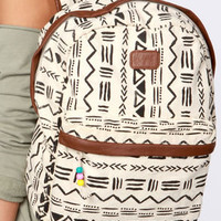 Billabong Secret Dreamin' Cream Tribal Print Backpack