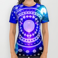 Electric blue universe All Over Print Shirt by Haroulita   Society6