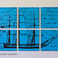CLEARANCE The Vintage Ship Screen Print Collection  by RightGrain