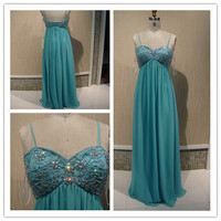 Sweetheart Neckline Removable Straps Floor Length Prom Dress