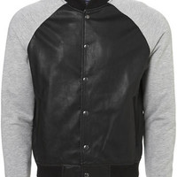 Leather Look Jersey Baseball - New Clothing - New In - TOPMAN USA