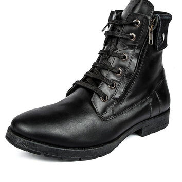 Liberty Mens Leather Boots Black 8 D(M) US