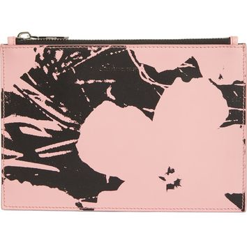 CALVIN KLEIN 205W39NYC x Andy Warhol Foundation Flowers Leather Pouch | Nordstrom