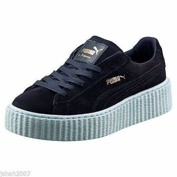 puma rihanna peacoat cool blue suede creepers fenty all uk sizes trainers new  number 1