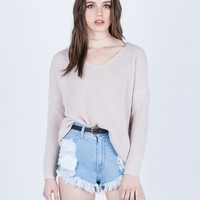 All Laced Up Sweater Top