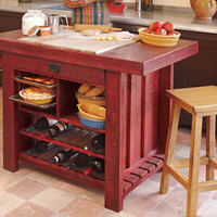 Silverado Pinewood Kitchen Island
