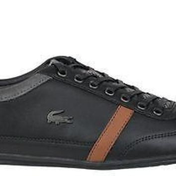 Lacoste Mens Casual Shoes Misano 32 Black Leather