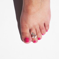 Pearl Drops Silver Toe Ring, Summer Fashion, For Women