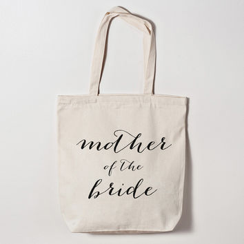 Mother of the Bride Calligraphy Tote Bag