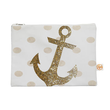 "Nika Martinez ""Glitter Anchor"" Gold Sparkles Everything Bag"