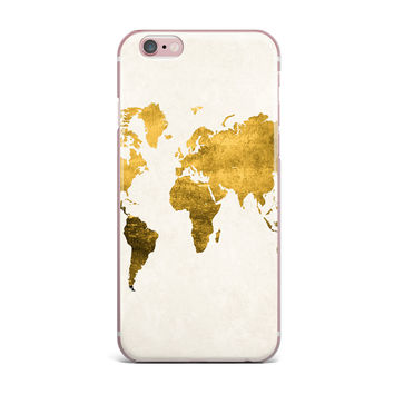 "Chelsea Victoria ""Let Love Light The Way"" Gold Love iPhone Case"