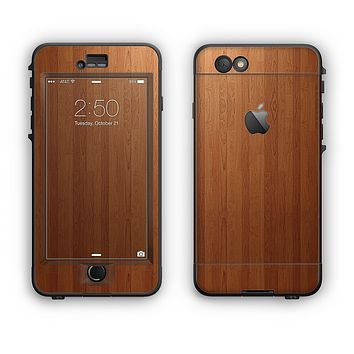 The Straight WoodGrain Apple iPhone 6 LifeProof Nuud Case Skin Set