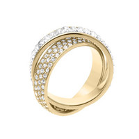 Michael Kors Pave/Baguette Eternity Ring, Golden
