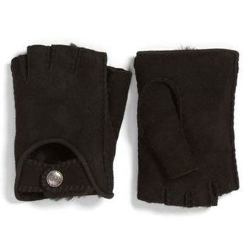 CREY1O UGG? McKay Genuine Shearling Fingerless Driving Gloves | Nordstrom