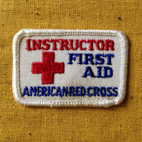 Vintage Boy Scouts of America Instructor First Aid / American Red Cross Patch