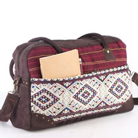 Southwestern Vacation Bag Festival Bag Navajo, Aztec Duffel Bag Boho Chic College Bag
