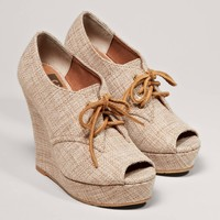 BC Footwear Ruffle Wedge | American Eagle Outfitters