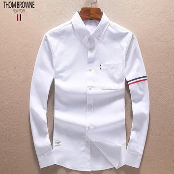 Boys & Men Thom Browne Fashion Casual Long Sleeve Shirt