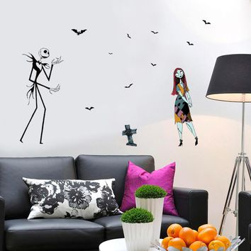 Halloween Ghost Zombie Wall Sticker Personality Window Home Decor Horror Wall Sticker #@5
