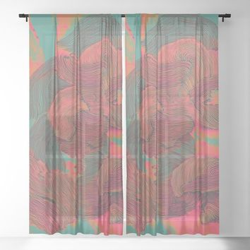 Mind Trip Sheer Curtain by duckyb