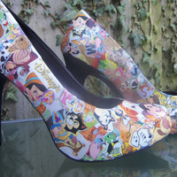 Disney decoupage shoes