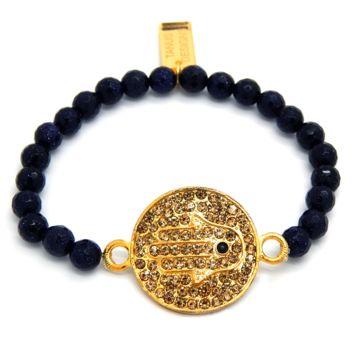 Enchanting Hamsa Bracelet in Gold