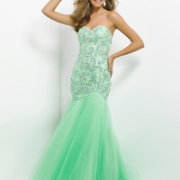 Fit And Flare Tulle Skirt Sweetheart Neckline Prom Dress By Blush 9754