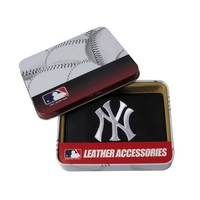 MLB New York Yankees Embroidered Genuine Cowhide Leather Trifold Wallet