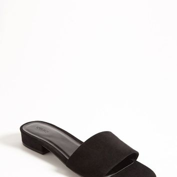 Faux Suede Slide Sandals