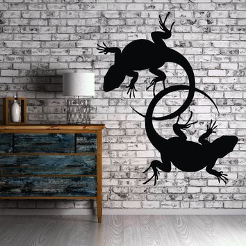 Vinyl Decal Wall Sticker Lizard Desert Animal Salamander Reptiles Ethnic Tribal Modern Home Decor Unique Gift (ig135)