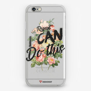 Transparent Inspiring Cell Phone Case Rubber iPhone Cover Flowers Print iPhone 5 Clear Hard Case iPhone 4S Cover iPhone 6 Plus Crystal Case