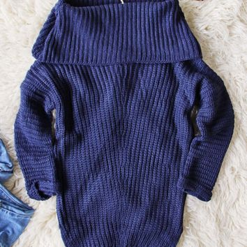 Gemma Knit Sweater in Navy
