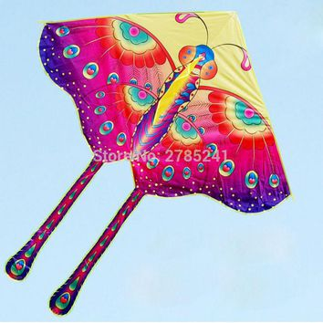 70 inch Butterfly Kite Children's Toy stunt Outdoor fun sports delta kites animal for kids with flying line