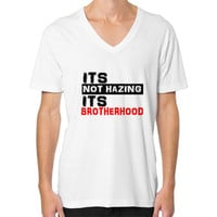It's Not Hating It's Brotherhood Mens V-Neck