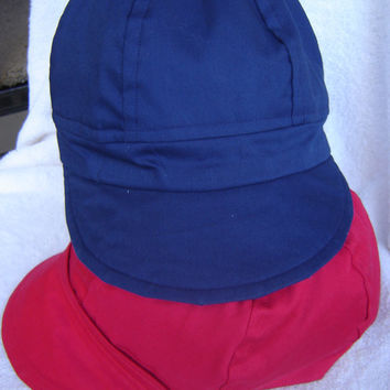 Newsboy , Baseball Style Cap, Red, Navy Blue, 4th of July lining.